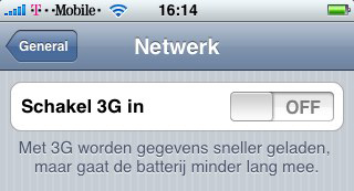 Nederlandse iPhone 3G opties