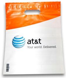 AT&T plastic tasje
