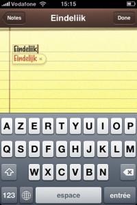 iPhone AZERTY met Nederlandse spellingscontrole