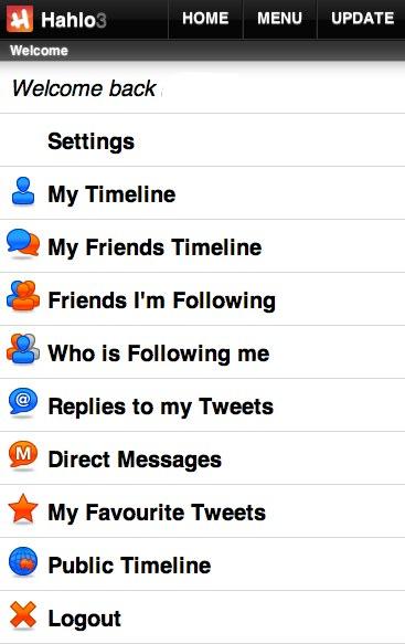 Twitter Mobile Hahlo