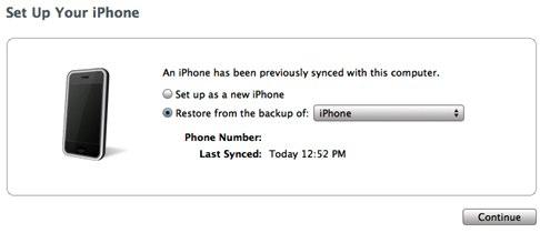 Setup your iPhone