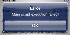 Main Script Execution Failed