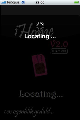 Bij het opstarten van iHome wordt je locatie bepaald.