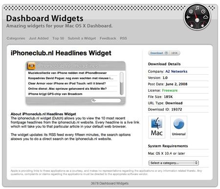 iPhoneclub widget