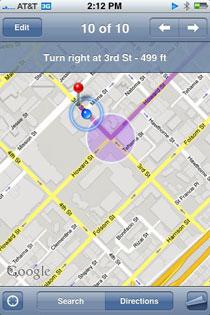 iPhone GPS navigatie