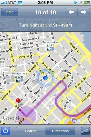 GPS Navigatie iPhone
