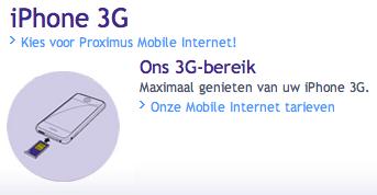 iPhone 3G Proximus