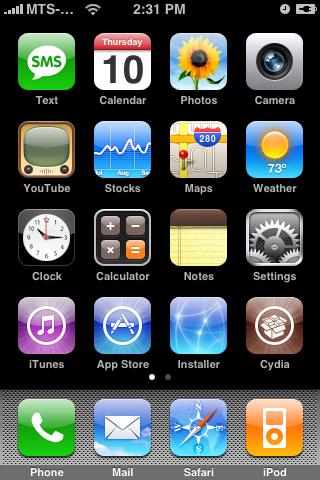 Firmware 2.0 unlock? App Store, Cydia en Installer