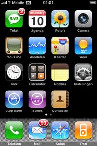 startscherm iphone 3G