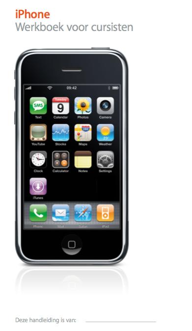 iPhone 3G cursusboek