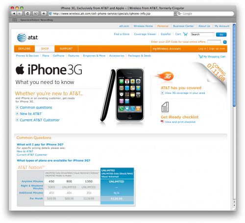 AT&T iPhone 3G