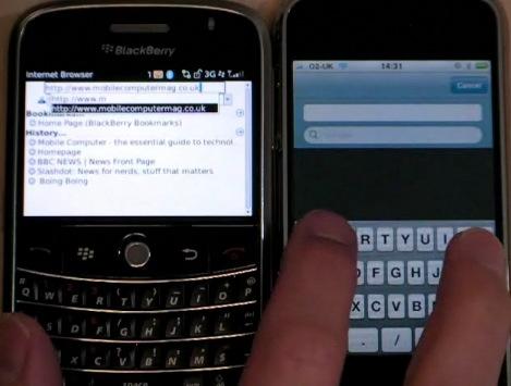 Bold versus iPhone