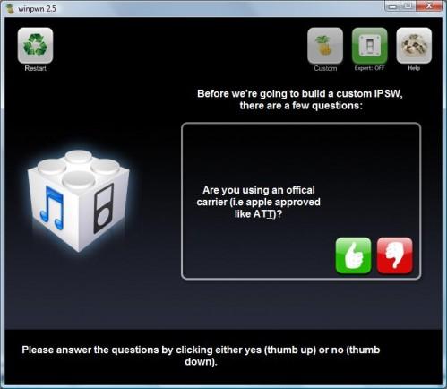 Winpwn 2.5: gebruik je een iPhone met officieel abonnement?