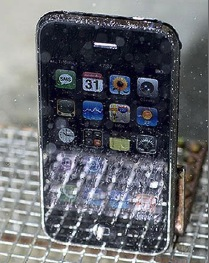 iPhone niet waterproof