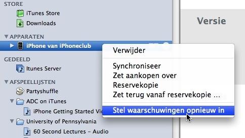 reservekopie op nieuwe iphone zetten duurt erg lang