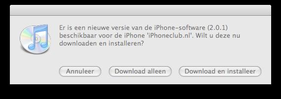 iPhone firmware 2.0.1