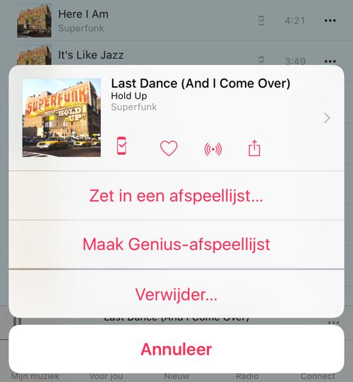Genius afspeellijst maken op iPhone, iPad of iPod touch