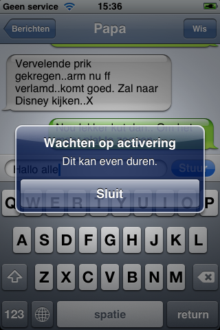 activering iPhone
