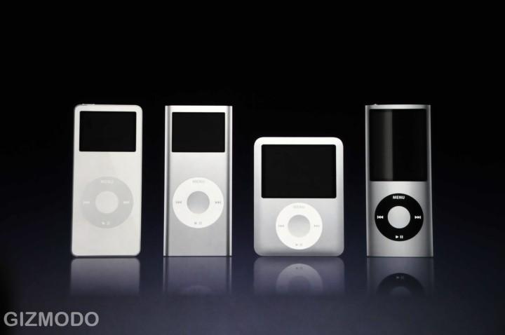 De huidige iPod-lijn