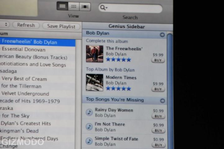 Aanbevelingen Genius in iTunes 8