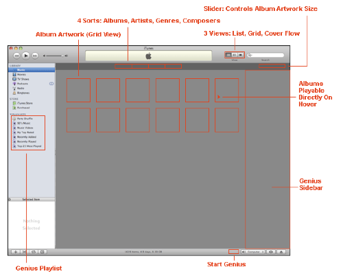 itunes grid view