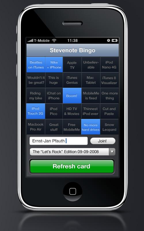 stevenote bingo