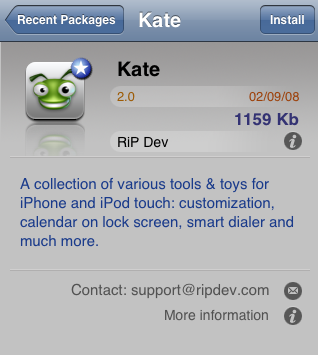 Kate 2.0 in Installer 4
