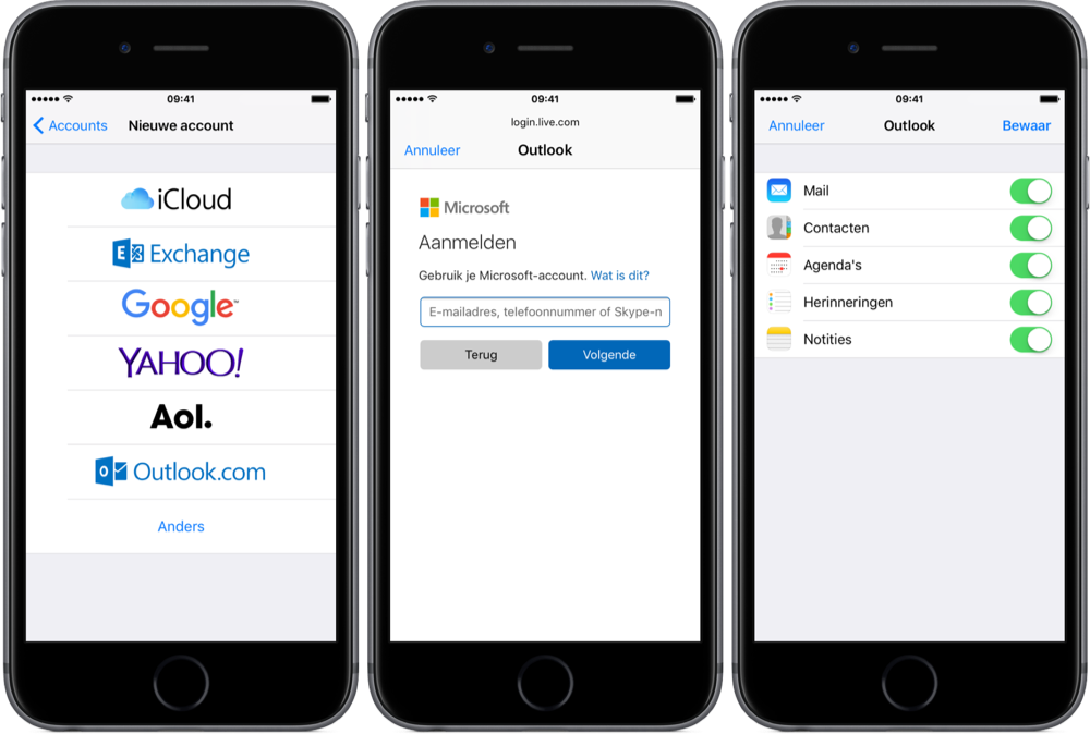 hotmail app for iphone outlook en hotmail instellen op iphone ipod touch 14276