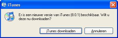 iTunes 8.0.1 update