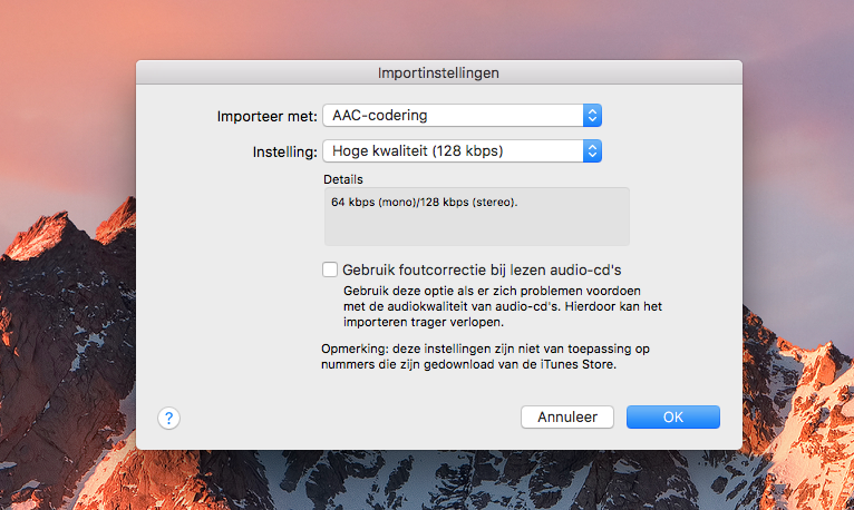 Muziek converteren naar AAC in iTunes