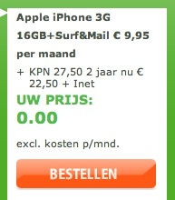 16GB iPhone 3G gratis