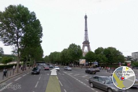 Google Street View in Parijs