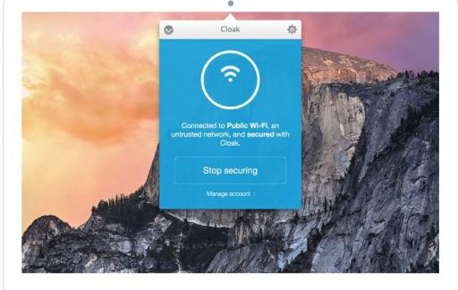 Cloak VPN op de Mac