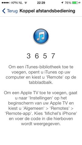 Remote-app koppelen