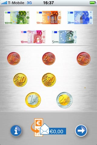 Schuiven met munten.