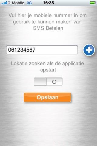 Mobiel nummer invoeren.