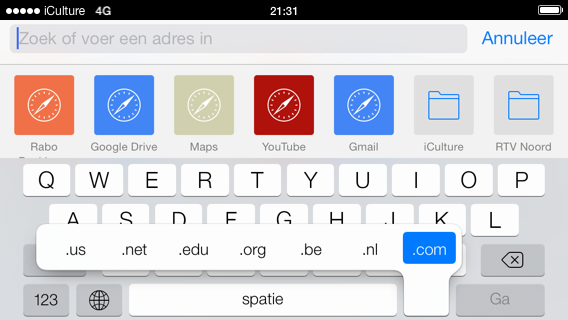 Safari iOS 7 extensies snel intikken