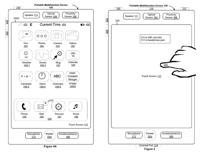 apple patent multitouch iphone