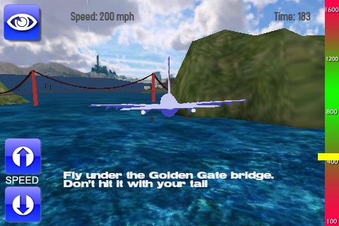 De eerste opdracht: onder de Golden Gate-brug door vliegen.
