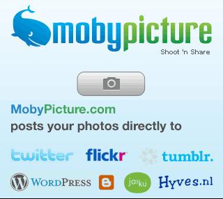 MobyPicture 1.1 - nieuw startscherm