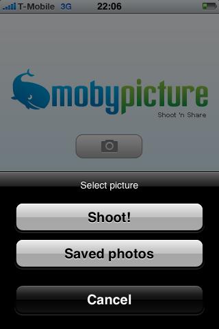 MobyPicture 1.1 - duidelijke actieknoppen