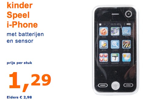 Kinder iphone bij Action