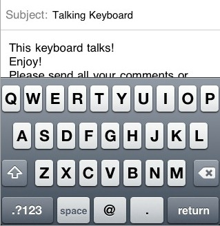 Talking Email Keyboard