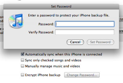 iphone encryptie backup