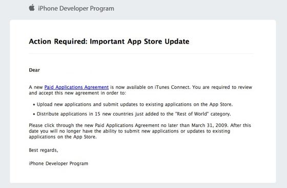 iPhone Developer Agreement