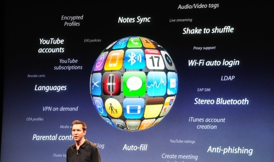 Apple Keynote iPhone firmware 3.0