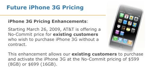 att actie iPhone 3G
