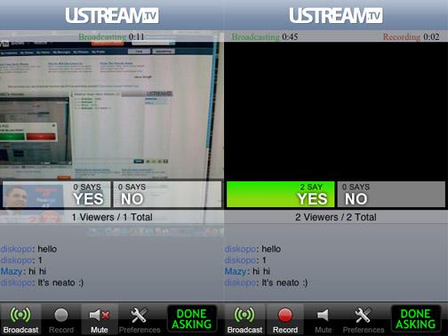 ustream iphone