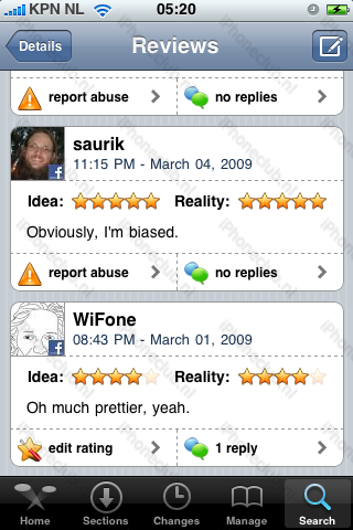 Beoordelingen Cydia Store.