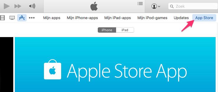 App Store openen